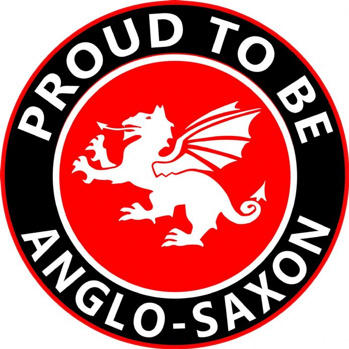 Proud To Be Anglo-Saxon White Dragon Round England Car Window Sticker